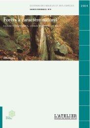 Forêts à caractère naturel