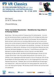VR Classics 18. bis 21. Februar 2010 -Pressemitteilung- Totilas ...