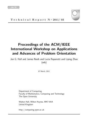 Proceedings of the ACM/IEEE International Workshop on ...