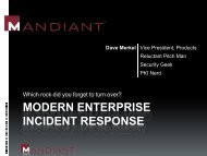 MODERN ENTERPRISE INCIDENT RESPONSE - SANS