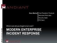 MODERN ENTERPRISE INCIDENT RESPONSE - SANS
