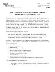 modalités de protection des sites fauniques d'intérêt dans la - BAPE