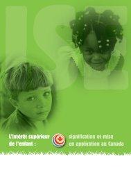 L'intérêt supérieur de l'enfant - Canadian Coalition for the Rights of ...
