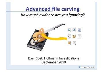 Advanced file carving - SANS Computer Forensics