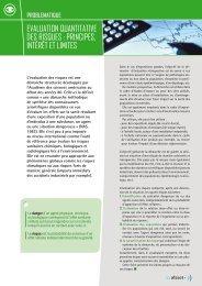 Evaluation quantitativE dEs risquEs : principEs, intérêt Et ... - Afsset