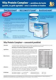 Vita Protein Complex® – protéines de haute - Vita Health Care AG