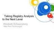 Taking Registry Analysis to the Next Level - SANS Computer ...