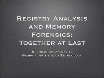 Brendan Dolan-Gavitt Georgia Institute of Technology - SANS
