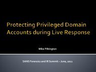 Protecting Privileged Domain Accounts during Live Response