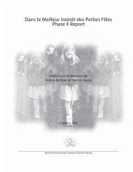 Dans le Meilleur Intérêt des Petites Filles Phase II ... - YWCA Canada