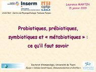 prébiotique, probiotique, symbiotique et ... - CHU Toulouse