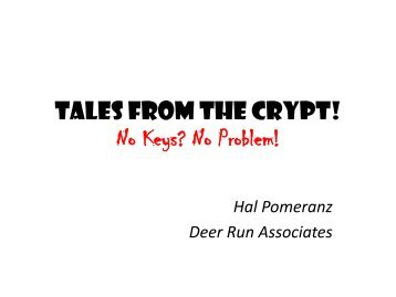 Tales from the Crypt - TrueCrypt Analysis - SANS