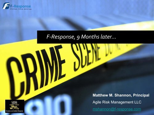 F-Response, 9 Months later… - SANS