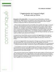 L'Agglomération de Longueuil intègre la Route ... - Ville de Brossard