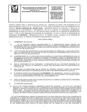 INSTITUTO MEXICANO DEL SEGURO SOCIAL ... - compras del IMSS