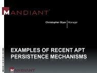 examples of recent apt persistence mechanisms - SANS Computer ...