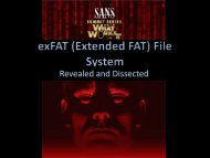 exFAT History - SANS Computer Forensics