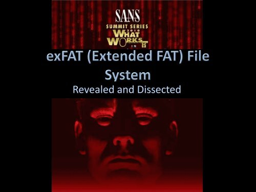 exFAT History - SANS Computer Forensics