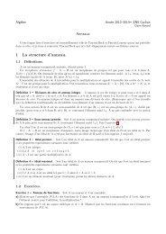 Anneaux 1 La structure d'anneau. - Normalesup.org