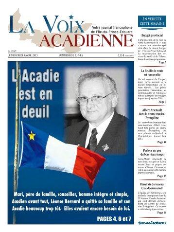 Mari, père de famille, conseiller, homme intègre et simple, Acadien ...