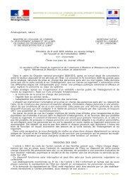 Aménagement, nature Circulaire du 8 avril 2010 ... - Bulletin Officiel