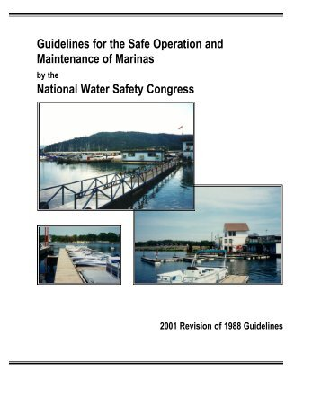 Guidelines for the Safe Operation and Maintenance of Marinas