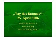 Tag des Baumes - Anne-Frank-Realschule plus Montabaur ...