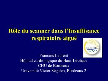 Importance de l'imagerie tomodensitométrique pour le diagnostic de ...