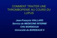 Traitement de la thrombopénie au cours du Lupus