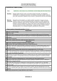 Igiene cavo orale p. intubata - Corso di Laurea Infermieristica
