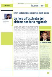 Ferrara Centro Mondiale nella Chirurgia Cranio Maxillo Facciale