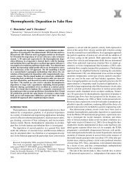 Thermophoretic Deposition in Tube Flow