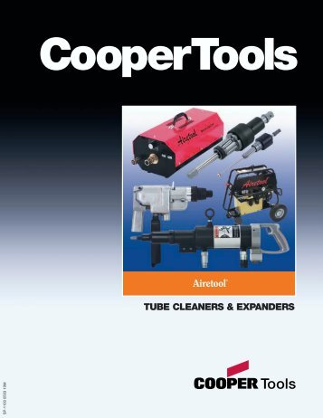 Airetool Tube Cleaner and Expanders Catalog - Tecno Italia s.r.l