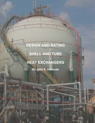 design and rating shell and tube heat exchangers - Chemstations, Inc