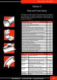 Section 5 Pipe and Tube Sizes