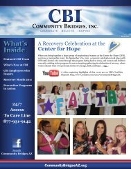 A Recovery Celebration at the Center for Hope - Community Bridges