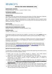 NOTICE FOR OPEN TENDER (ITB/RFP) - UNOPS
