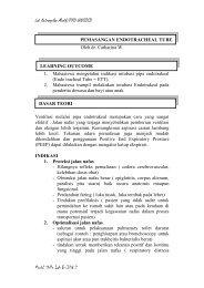 Pemasangan Endotracheal Tube - Kedokteran Unsoed