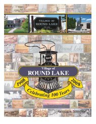 round lake history - Pioneer Press Communities Online