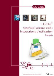 Mode d'emploi compression thoracique LUCAS ... - Physio-Control