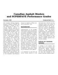 Canadian Asphalt Binders and SUPERPAVE ... - C-SHRP