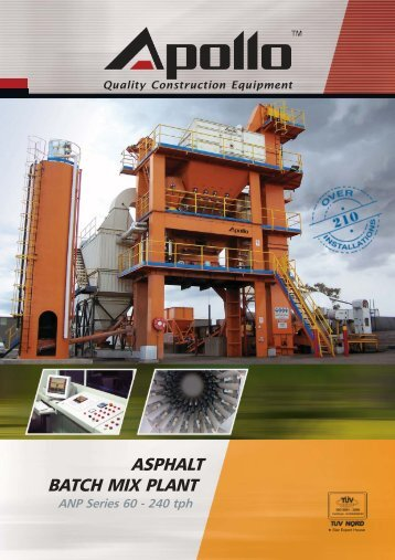 ASPHALT BATCH MIX PLANT - Ammann Apollo
