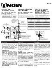 POSITEMP TUB AND SHOWER VALVES VÁLVULAS ... - PROFLO