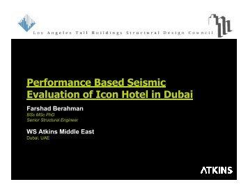 Performance Based Seismic Evaluation of Icon Hotel in Dubai - PEER