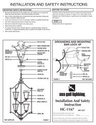 INSTALLATION AND SAFETY INSTRUCTIONS Installation And ...