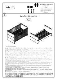 Kombi - Kinderbett 1. Zeno