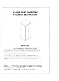 MILAN 2 DOOR WARDROBE ASSEMBLY INSTRUCTIONS