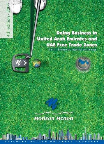 Doing Business in UAE - Morison Menon