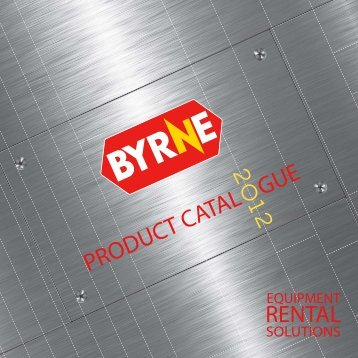 product cataloque - Byrne Equipment Rental LLC