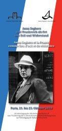 Programm zur Jahrestagung [PDF] - Anna Seghers